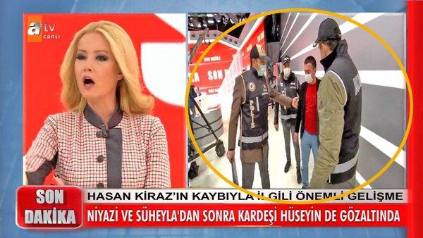 Müge Anlı'da SON DAKİKA! Polis canlı yayında gözaltına aldı... Hasan Kiraz olayında Müge Anlı cinayet süphesinde haklı çıktı | Video