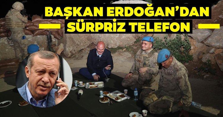 Başkan Erdoğan, Namaz Dağı üs bölgesindeki askerlerin telefonla bayramını kutladı