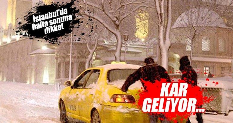 İstanbul'da hafta sonuna dikkat: Sıcaklıklar düşecek, kar geliyor