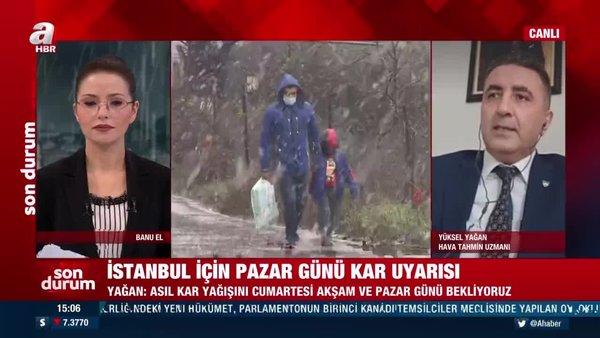 SON DAKİKA: İstanbul için yoğun kar yağışı uyarısı! Hava Tahmin Uzmanı tarih verdi | Video