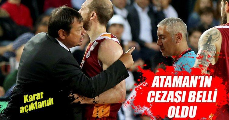 Ergin Ataman'a 3 maç ceza