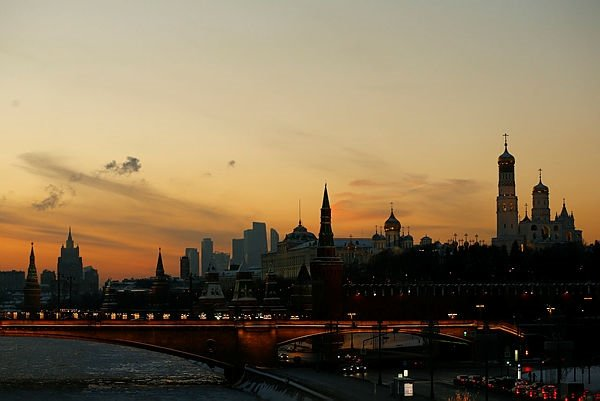 Moskova'da gün batımı