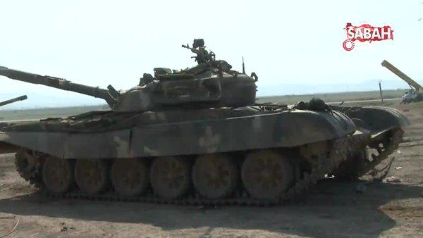 Son dakika! İşte Azerbaycan'ın Ermenistan güçlerinden ele geçirdiği en son tanklar... | Video