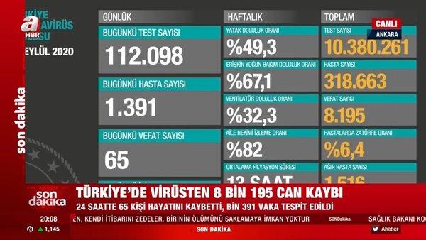 Son Dakika Haberi | Bakan Koca corona virüsü vaka sayısı ve ölü sayısını açıkladı! 30 Eylül Türkiye corona virüs tablosu | Video