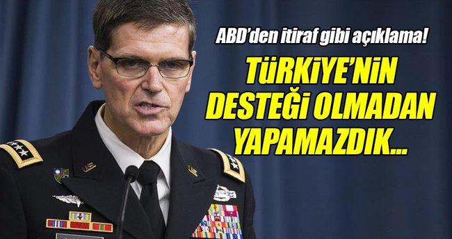 'Türkiye'nin desteği olmadan Suriye'de yaptıklarımızı yapamazdık'