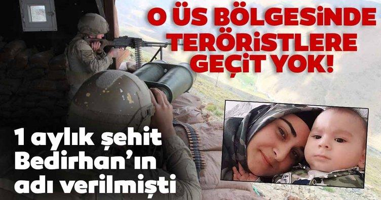 Şehit Bedirhan bebeğin adının verildiği üste teröristlere geçit verilmiyor!