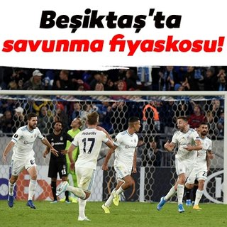 Beşiktaş'ta savunma fiyaskosu!