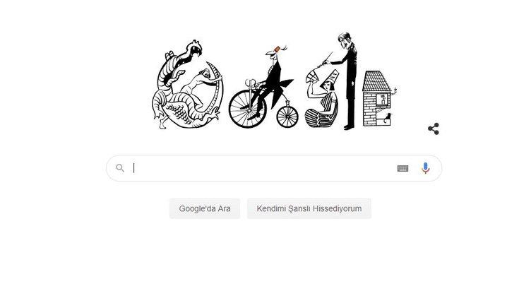 Google'dan Doodle sürprizi: Turhan Selçuk Google Doodle oldu! Turhan Selçuk kimdir, kaç yaşında ve nereli?