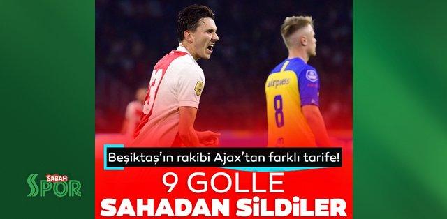 Beşiktaş'ın rakibi Ajax'tan tam 9 gol! Sahadan sildiler...