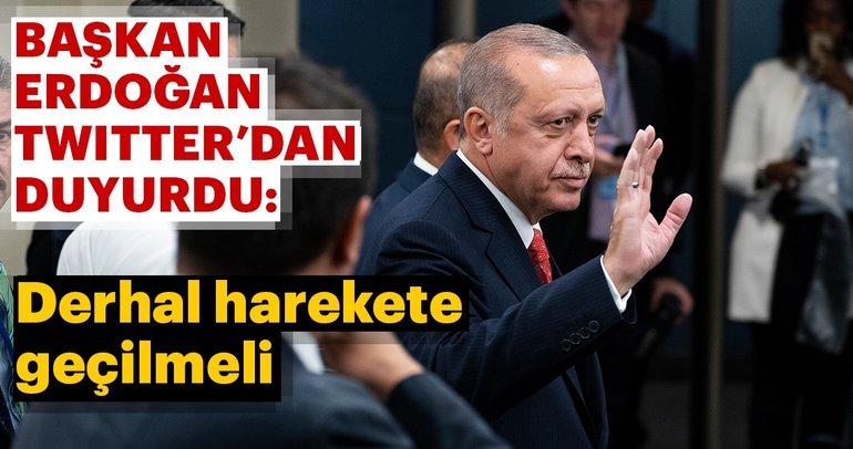 Başkan Erdoğan: Birleşmiş Milletler'i zulmün değil adaletin kaynağı haline getirmeliyiz.