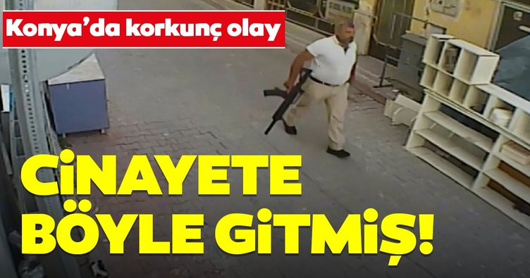 Konya'da korkunç olay! Cinayete çift silahla gitmiş