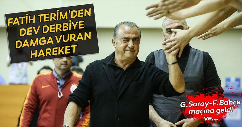 Fatih Terim'den Galatasaray - Fenerbahçe maçına damga vuran hareket