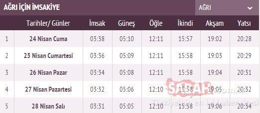 24 Nisan il il imsakiye ile Ankara, Bursa, Gaziantep, Konya, İzmir ve İstanbul iftar saati! İstanbul'da iftar saat kaçta? İşte imsakiye vakitleri....