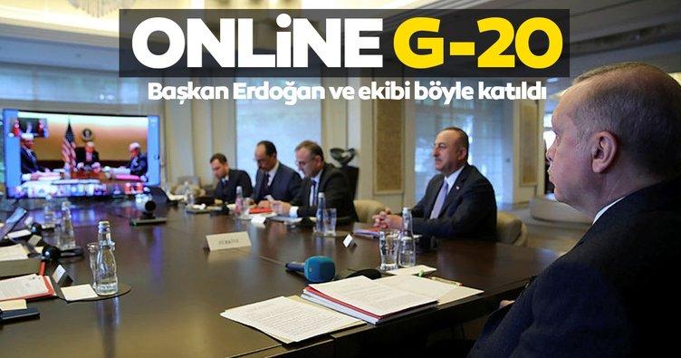Başkan Erdoğan, video konferansla G20 Liderler Zirvesi'ne katıldı