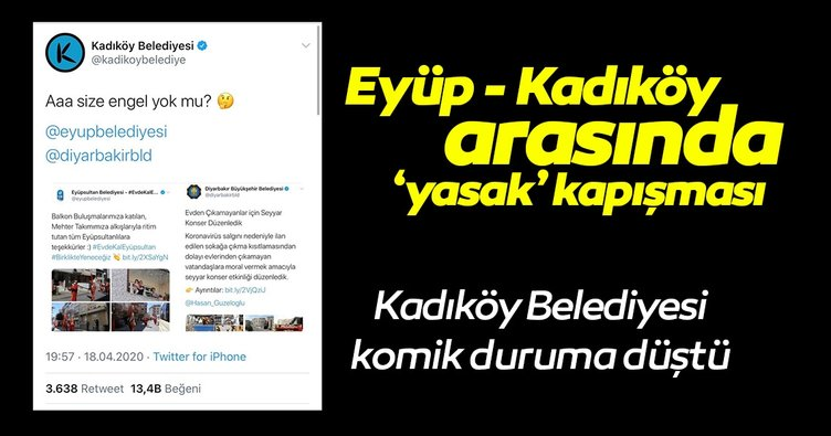 Eyüp Belediyesi'nden Kadıköy Belediyesi'ne kapak!