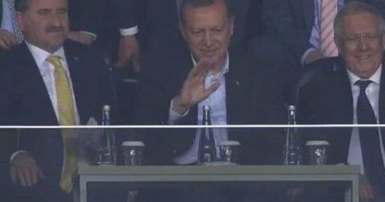 Cumhurbaşkanı Erdoğan'ın gol sevinci
