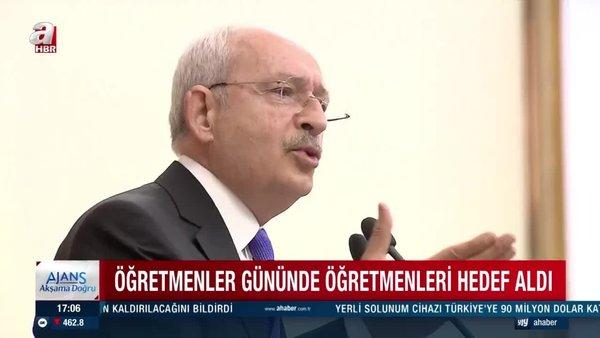 CHP lideri Kemal Kılıçdaroğlu Öğretmenler Günü'nde öğretmenlere hakaret etti   Video