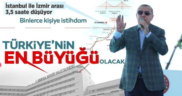 Son Dakika: Başkan Erdoğan, Bursa Şehir Hastanesi ve İstanbul-İzmir Otoyolunun açılışını yaptı!
