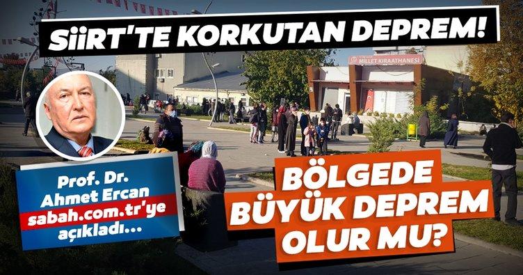 Siirt'teki depremin ardından Prof. Dr. Övgün Ahmet Ercan değerlendirmelerde bulundu