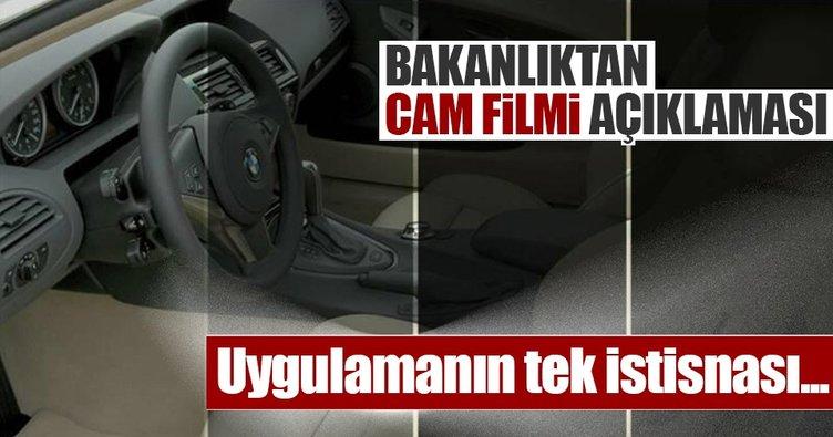 Sanayi Bakanlığından cam filmi açıklaması