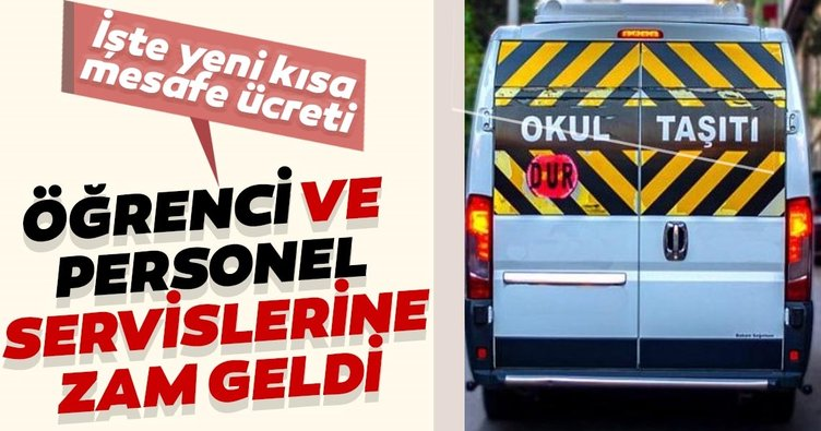 Son dakika: İstanbul'da öğrenci ve personel servislerine büyük zam!