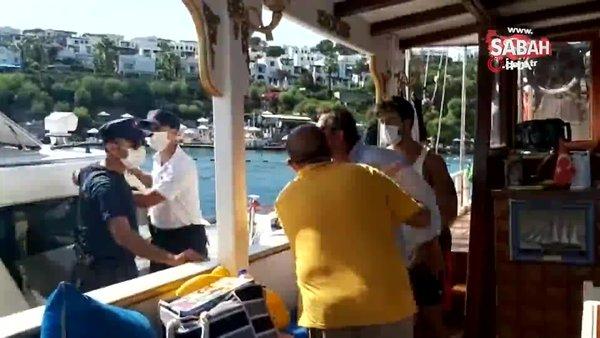 Teknesine fazla yolcu alınca ortalık karıştı... Sahil Güvenlik ekipleri müdahale etti, tekne kaptanını gözaltına aldı   Video