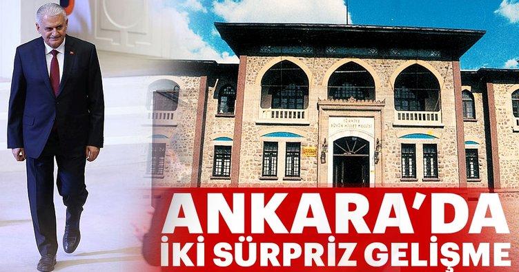 Son Dakika: Ankara'da iki sürpriz gelişme