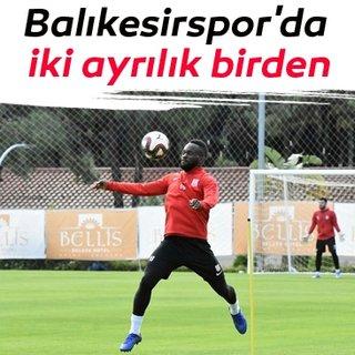 Balıkesirspor'da Beleck ve Otoo, sözleşmesini feshetti