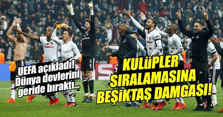UEFA Kulüpler Sıralamasına Beşiktaş damgası!