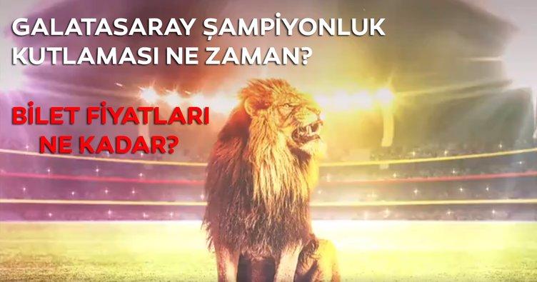 Galatasaray şampiyonluk kutlaması ne zaman? Galatasaray 22. şampiyonluk gala gecesi bilet fiyatı kaç lira?