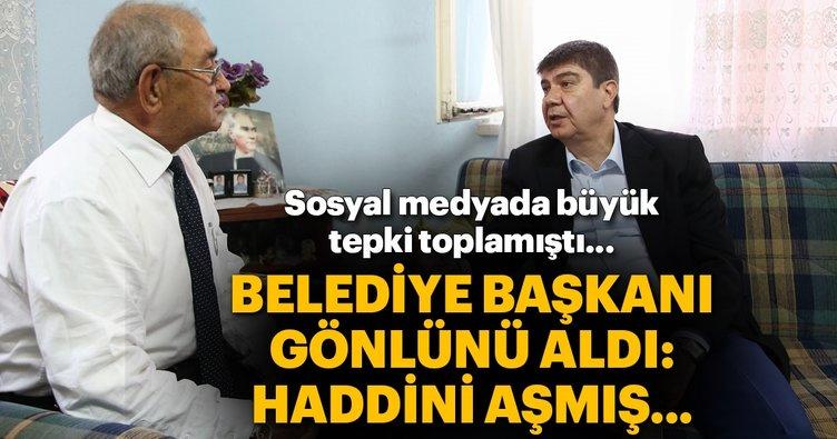 Şoförün otobüsten indirdiği gaziye Başkan Türel'den Antalya kartı