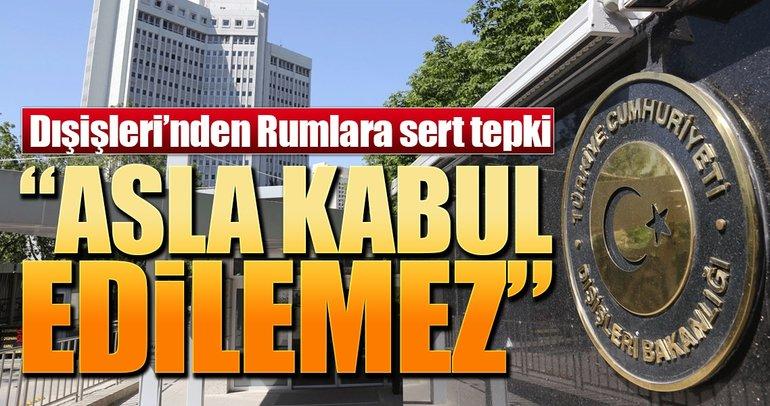 Türkiye'den Güney Kıbrıs Rum Yönetimi'ne sert tepki