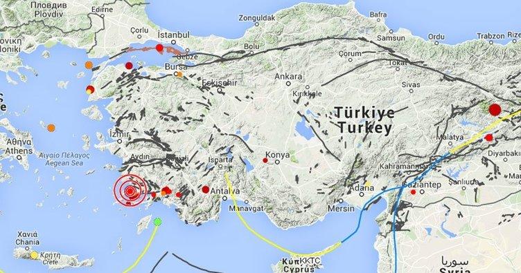 Bodrum'da 24 saatte 490 deprem oldu