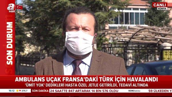 Ambulans uçak Fransa'daki Türk için havalandı