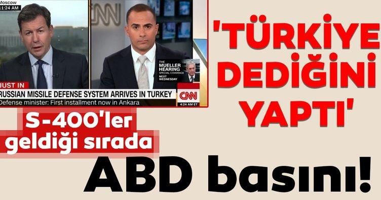 S-400'ler geldiği sırada ABD basını! 'Türkiye dediğini yaptı'