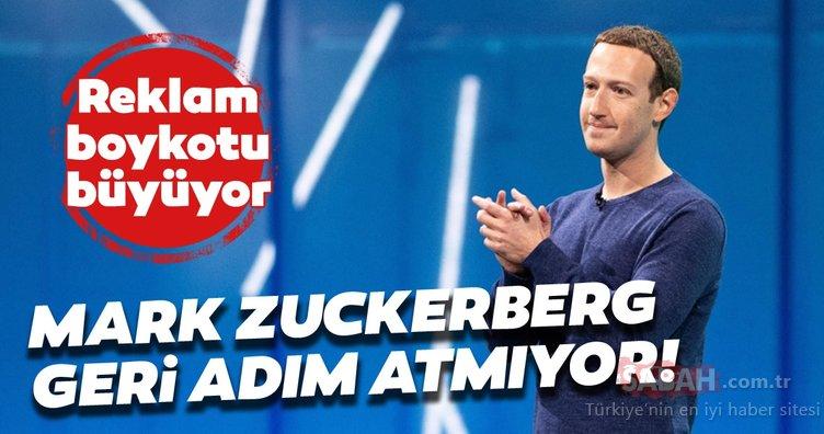 Facebook reklam boykotu büyüyor! Mark Zuckerberg'ten açıklama geldi