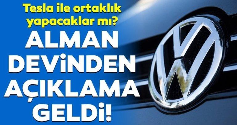 Volkswagen'den açıklama geldi! Tesla'ya ortak olacaklar mı?