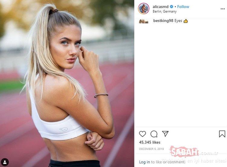 Dünyanın en güzel atleti seçilen Alica Schnidt kimdir? Alica Schmidt'in instagram paylaşımları...