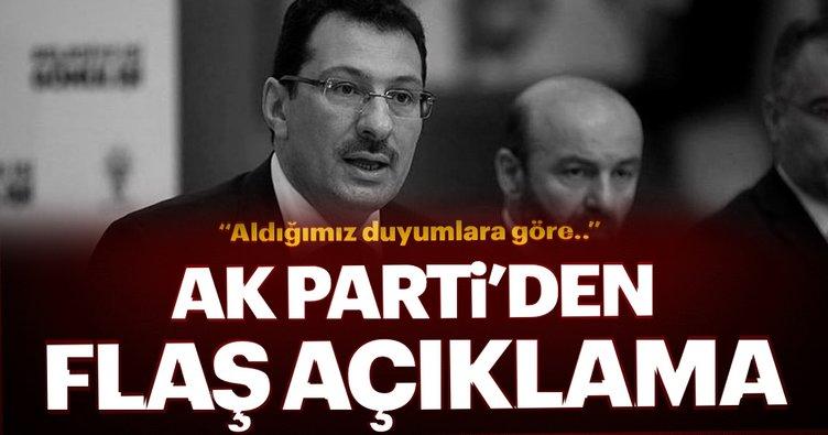 AK Parti: Duyumlarımıza göre YSK konuyu yarın görüşmeye başlayacak