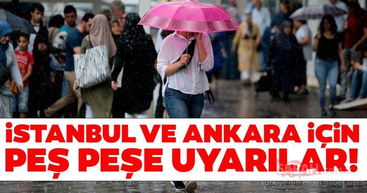 Meteoroloji'den İstanbul ile Ankara için son dakika hava durumu ve sağanak yağış uyarısı! İstanbul'da yağışlar ne kadar sürecek?