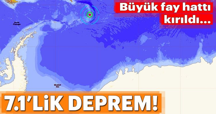 Antarktika'da 7.1 büyüklüğünde deprem