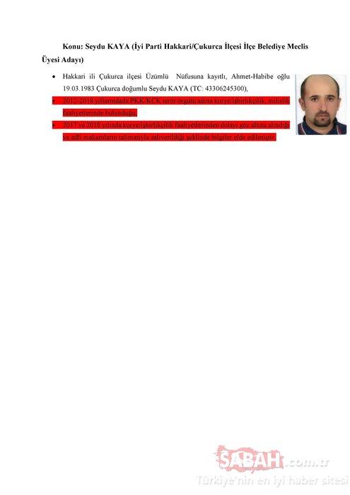 İşte İyi Parti'nin 31 Mart seçimleri aday listesindeki PKK'lılar!
