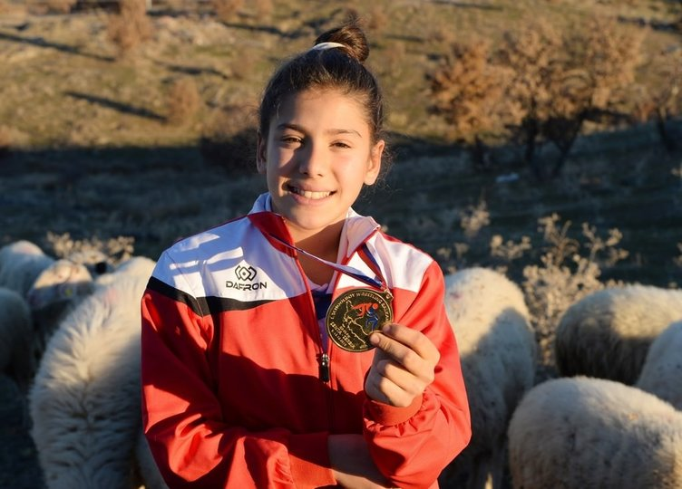 Çoban kız Balkan şampiyonu oldu