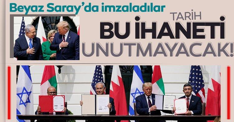 Son dakika: Tepki çeken normalleşme anlaşmaları Beyaz Saray'da imzalandı