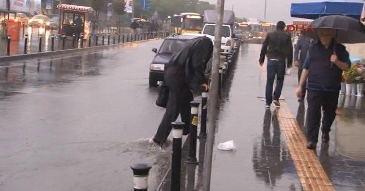 İstanbul sabaha yağmurla uyandı