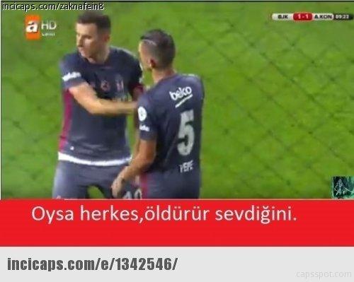 Beşiktaş - Konyaspor maçı capsleri
