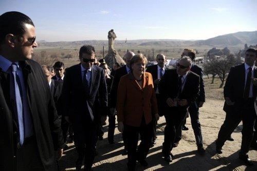 Angela Merkel'in Kapadokya gezisi