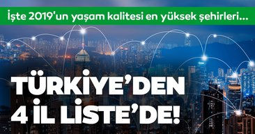 2019'un yaşam kalitesi en yüksek şehirleri belli oldu! Türkiye'den 4 il listede