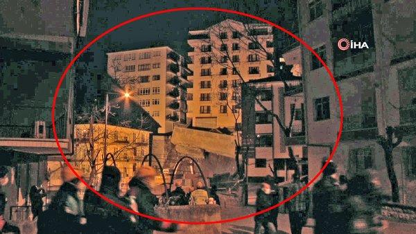 SON DAKİKA: Ankara'daki istinat duvarı dehşetinin görüntüleri ortaya çıktı! Çökme anı kamerada... 21 bina boşaltıldı