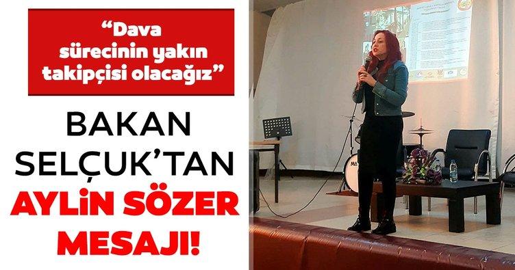 Son dakika   Aylin Sözer cinayeti sonrası Bakan Zehra Zümrüt Selçuk'tan açıklama! Dava sürecinin yakın takipçisiyiz